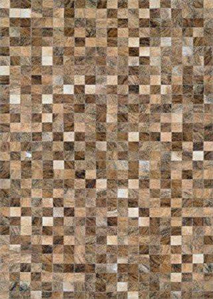 Chalet Pixels Cowhide Leather Area Rugs-Area Rugs-Rug Shop and More
