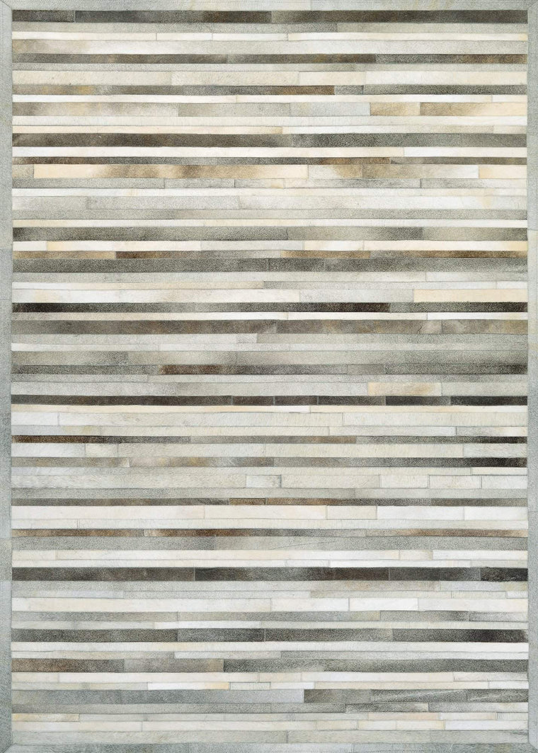 Chalet Plank-Cowhide Leather Area Rugs