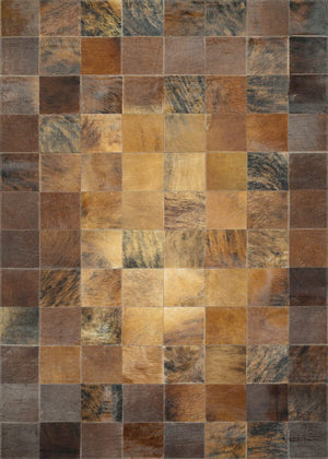 Chalet Tile Cowhide Leather Area Rugs-Rug Shop and More