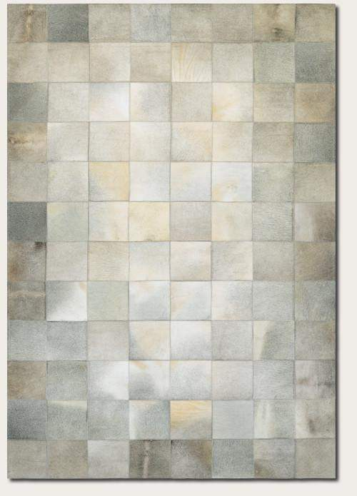 Couristan Chalet Tile Cowhide Leather Area Rugs