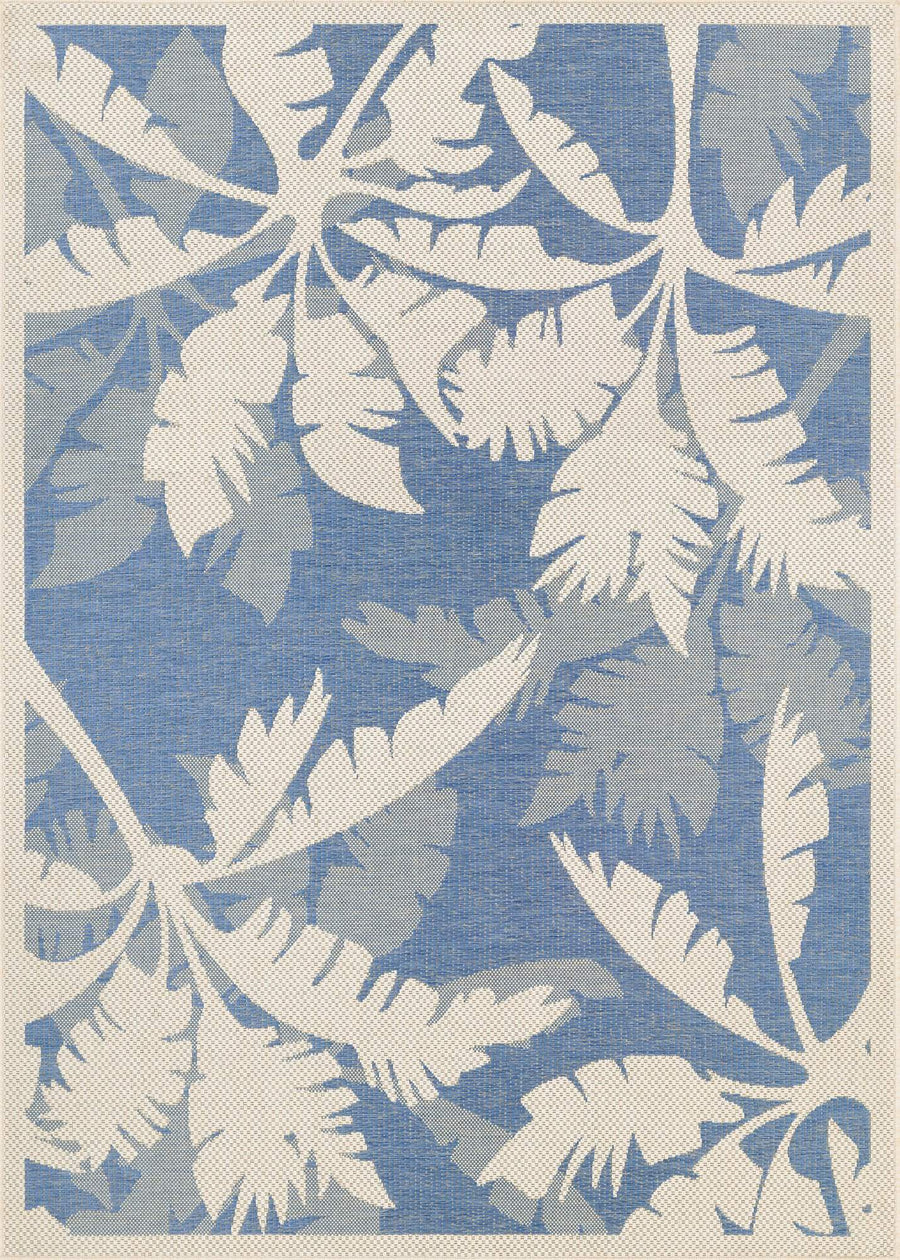 Monaco Coastal Blue Outdoor Rugs-Rug Shop and More