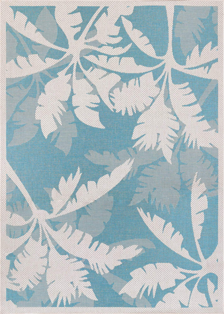 Couristan Coastal Flora Indoor Outdoor Modern Area Rugs