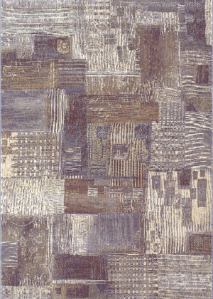 Easton Abstract Mural-Geometric Transitional Rug Collection