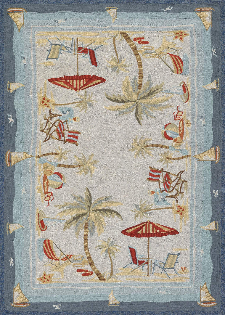 Outdoor Escape Pacific Heights-Beach Home Area Rugs