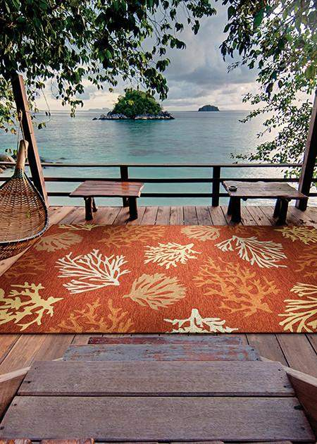 Outdoor Escape Sea Reef Beach Area Rug-Rug Shop and More