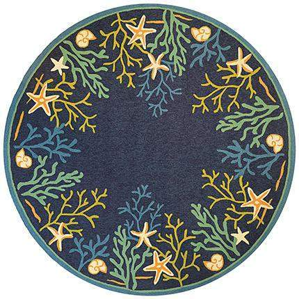 Outdoor Escape Sea Water Beach Round Rugs-Rug Shop and More