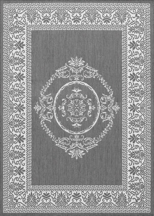 Recife Antique Medallion Grey Outdoor Rugs-Rug Shop and More