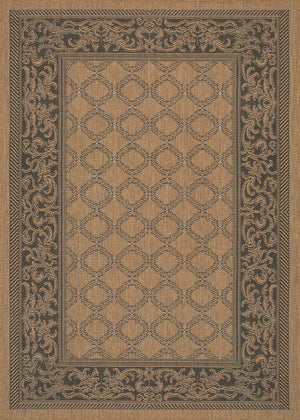 Recife Garden Lattice Brown Outdoor Rugs-Rug Shop and More