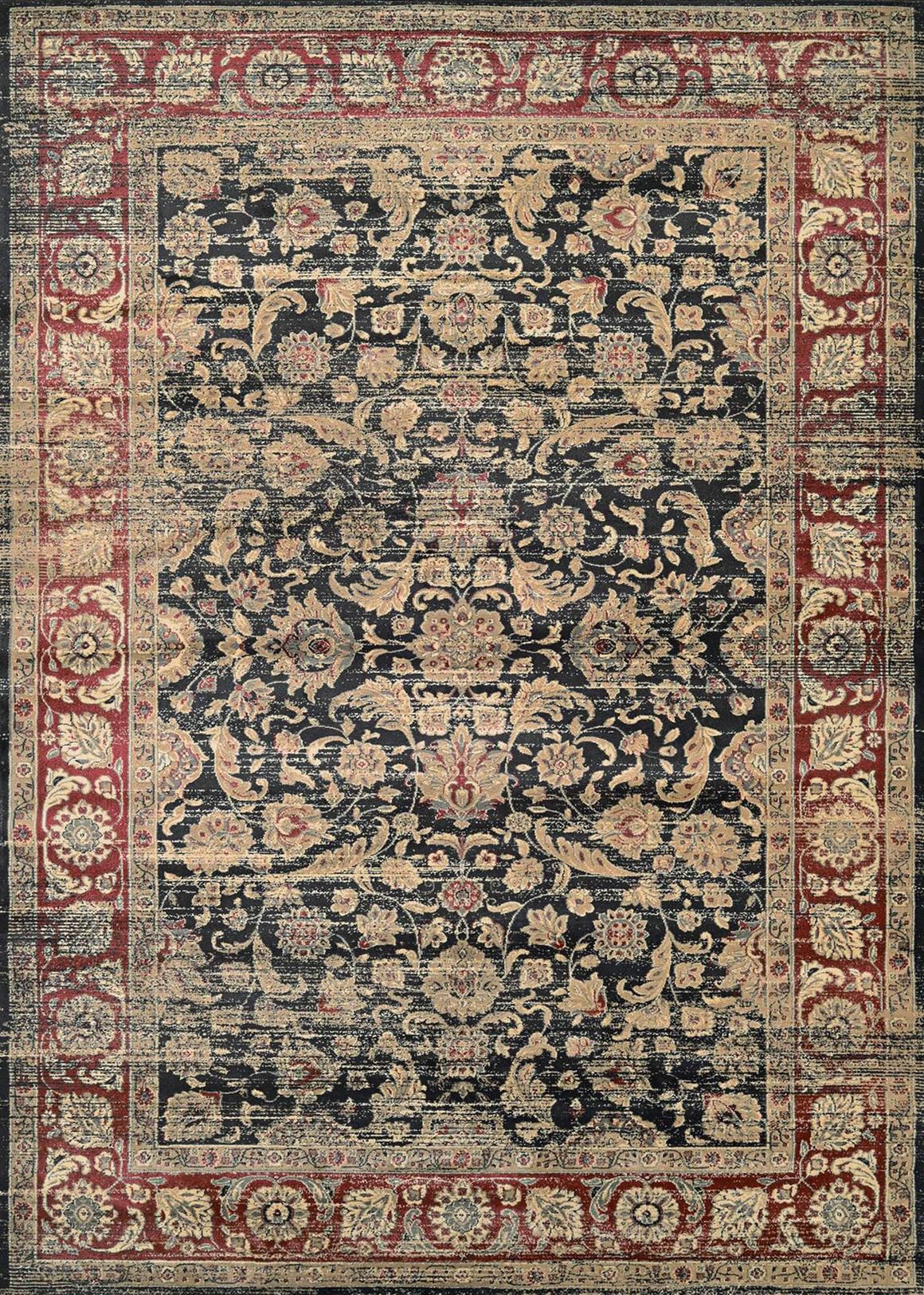 Zahara Embellished Blossom Vintage Inspired Area Rugs