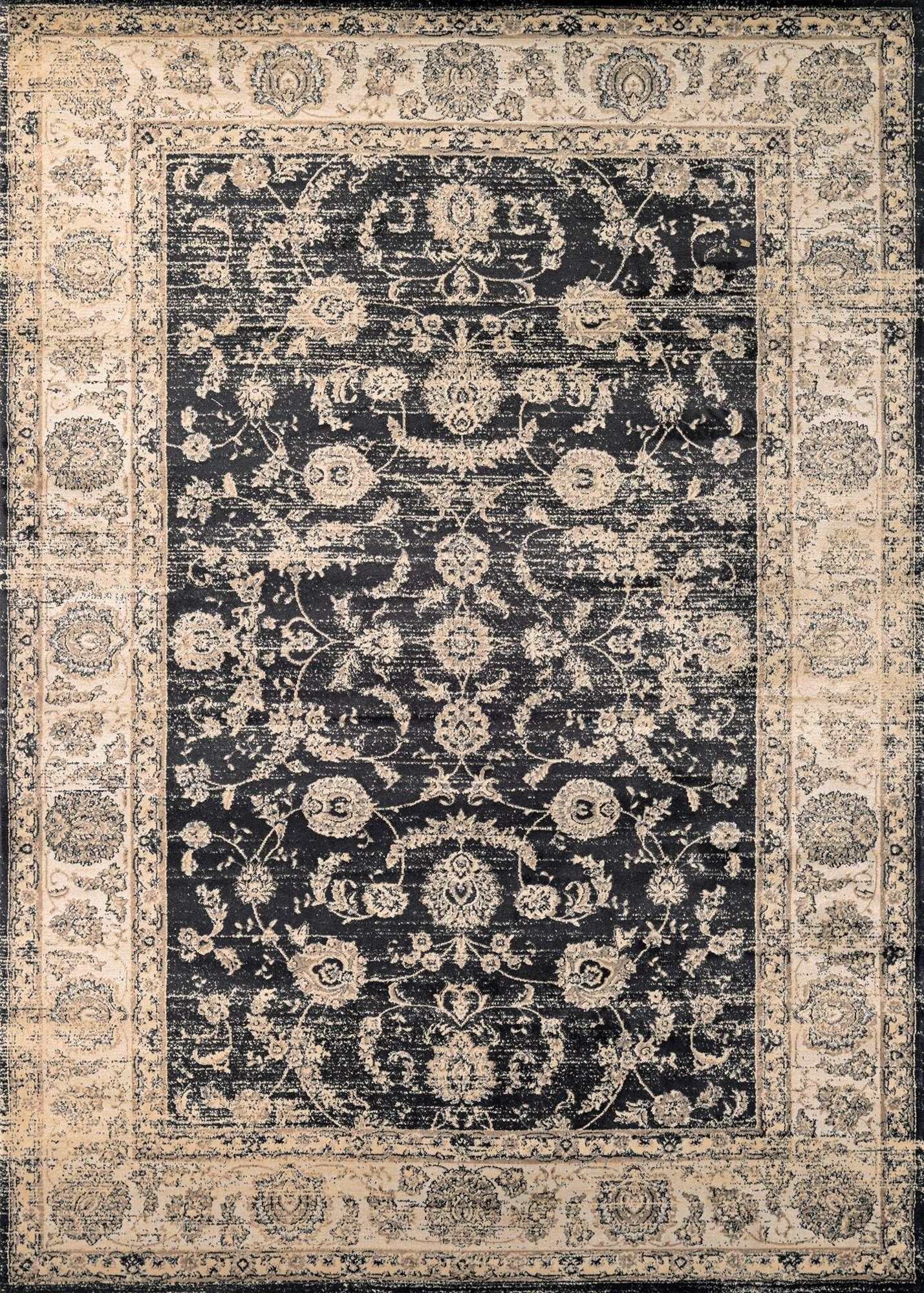 Zahara Floral Emblem Vintage Inspired Area Rugs-Area Rugs-Rug Shop and More
