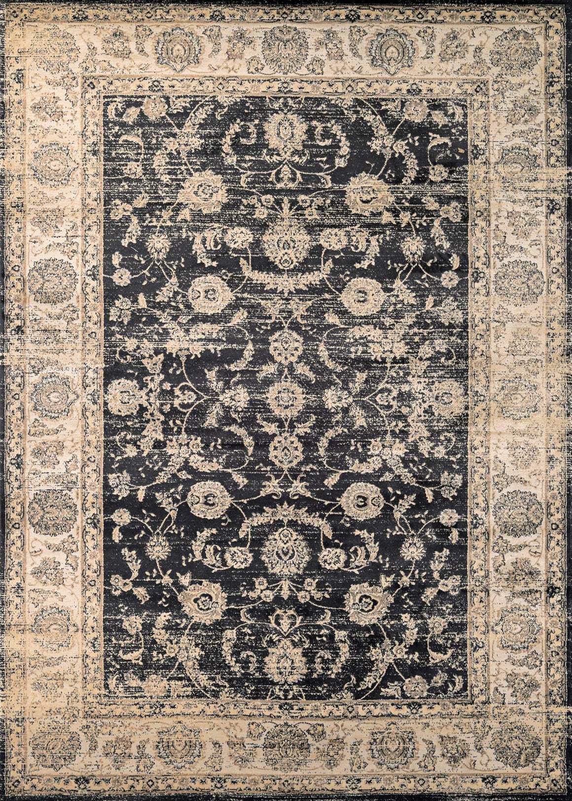 Zahara Floral Emblem Vintage Inspired Area Rugs Area Rugs - Rug Shop and More