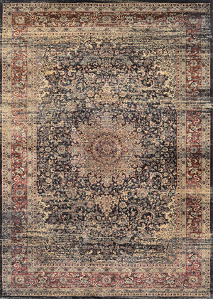 Zahara Lotus Medallion Vintage Inspired Area Rugs