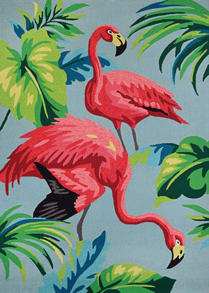 Covington Flamingos Outdoor Area Rug-Rug Shop and More