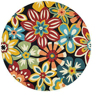 Covington Geranium Round Outdoor Rug-Rug Shop and More