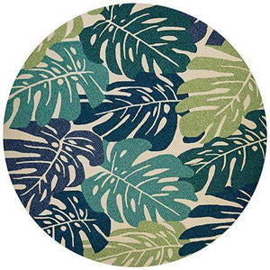 Covington Monstera Palm Leaf Outdoor Round Rug