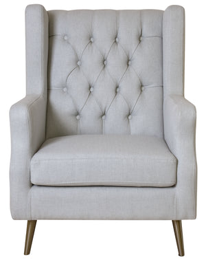Thomas Beige Wing Armchair