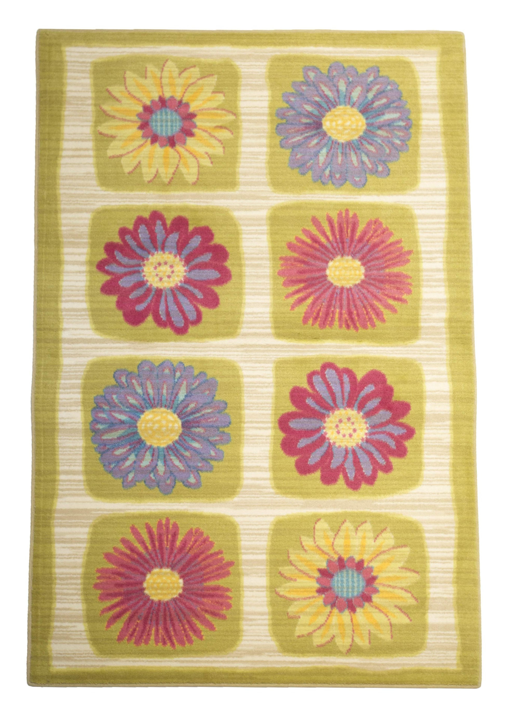 Daisy Flowers Girls Room Area Rug-Rug Shop and More