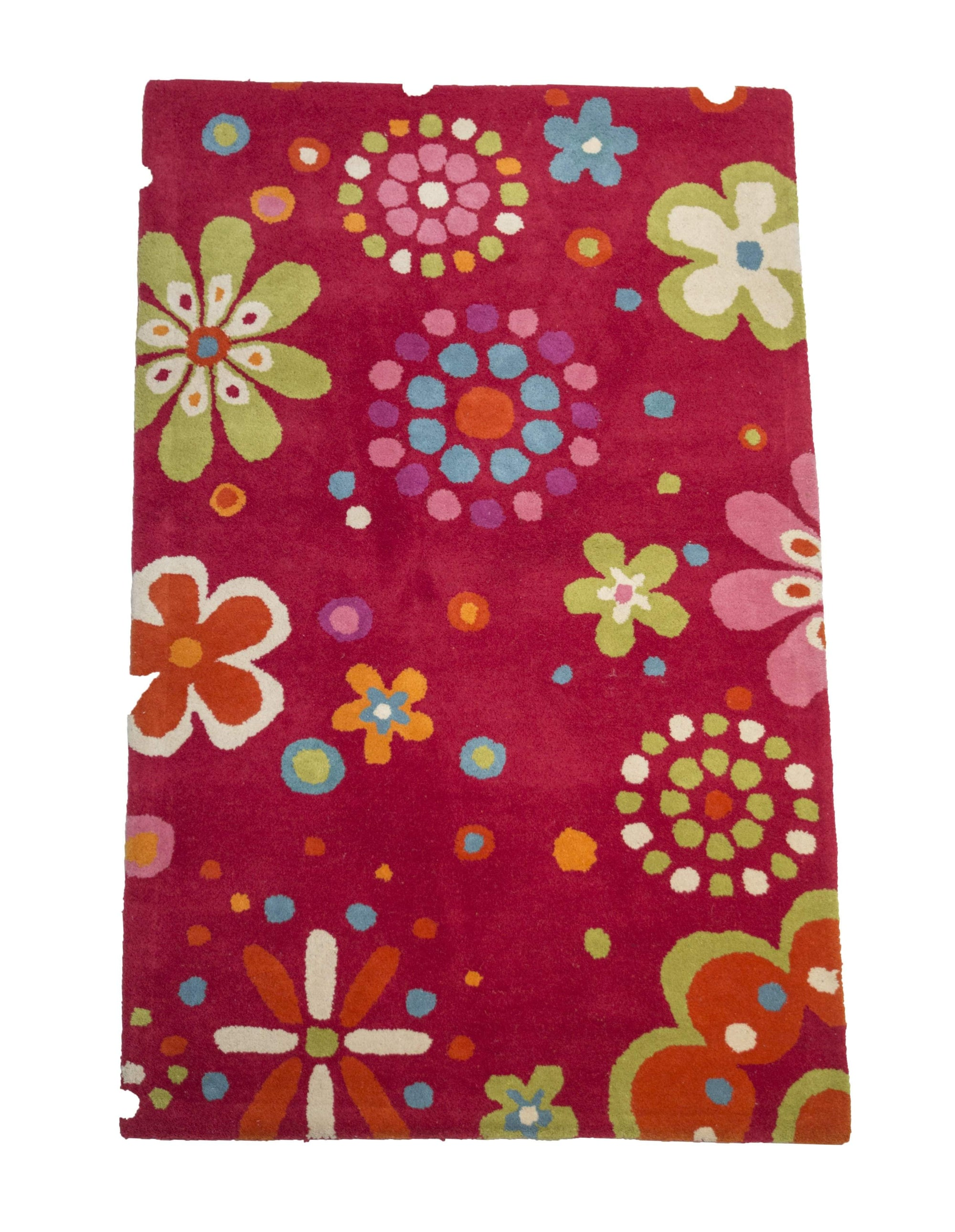 Flowers And Dots Kids Room Rug-Rug Shop and More