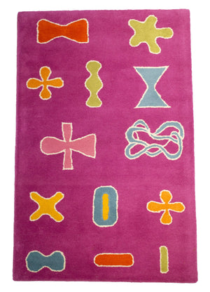 Fun Teenage Room Magenta Area Rug-Rug Shop and More