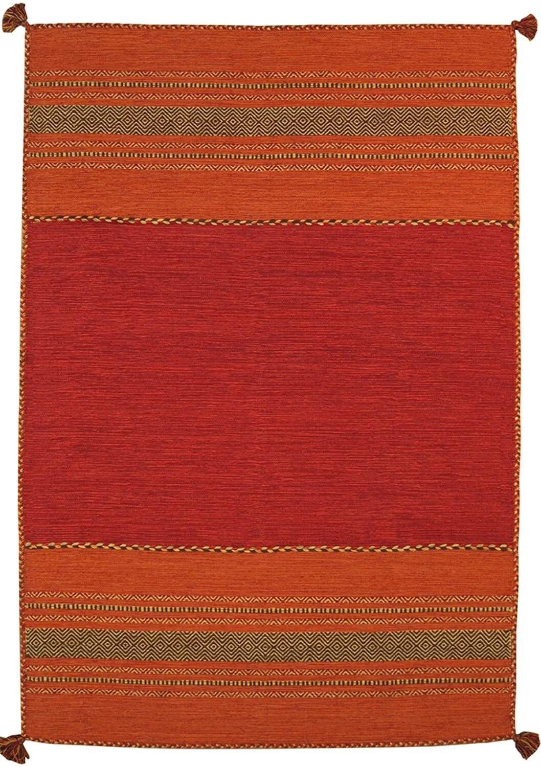 Hand-Woven Kilim Cotton Area Rugs