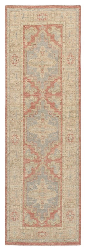 "2'10"" X  9' 4"" Turkish Oushak Hand Knotted Wool Runner"