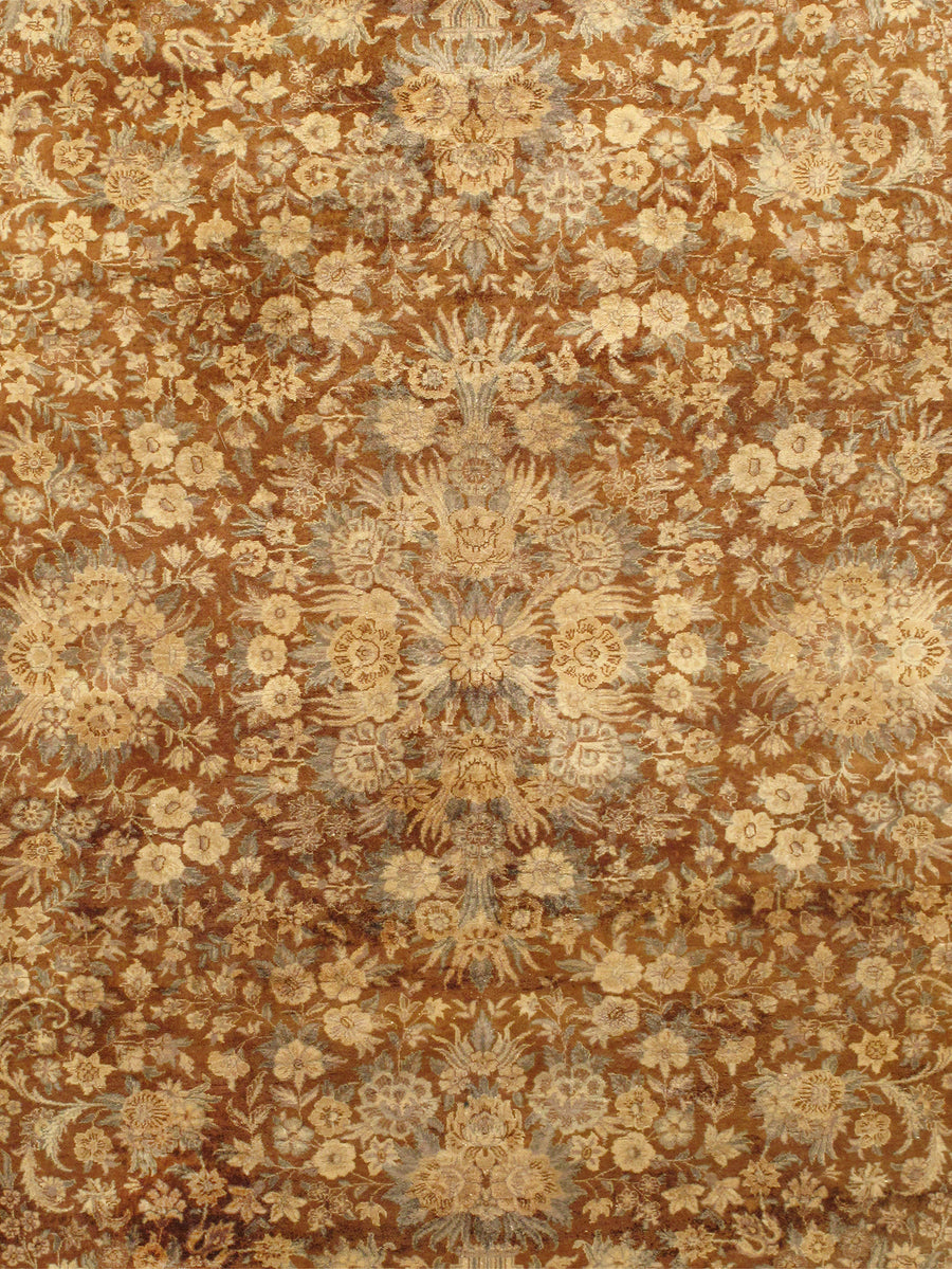 "6' 3"" X  9' 4"" Tabriz Hand Knotted Wool Area Rug"