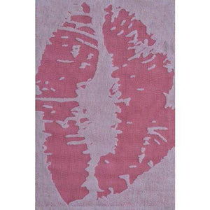 Kiss Teenage Room Pink Area Rug-Area Rugs-Rug Shop and More