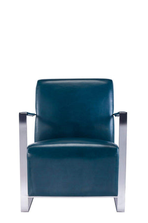 Luxe Teal Leather Armchair-Rug Shop and More