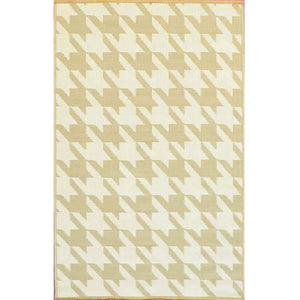 Hound's Tooth Eco Friendly Plastic Outdoor Area Rugs-Rug Shop and More