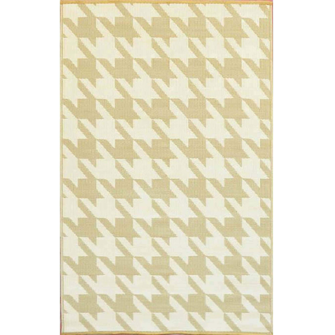 Hound's Tooth Eco Friendly Plastic Outdoor Area Rugs