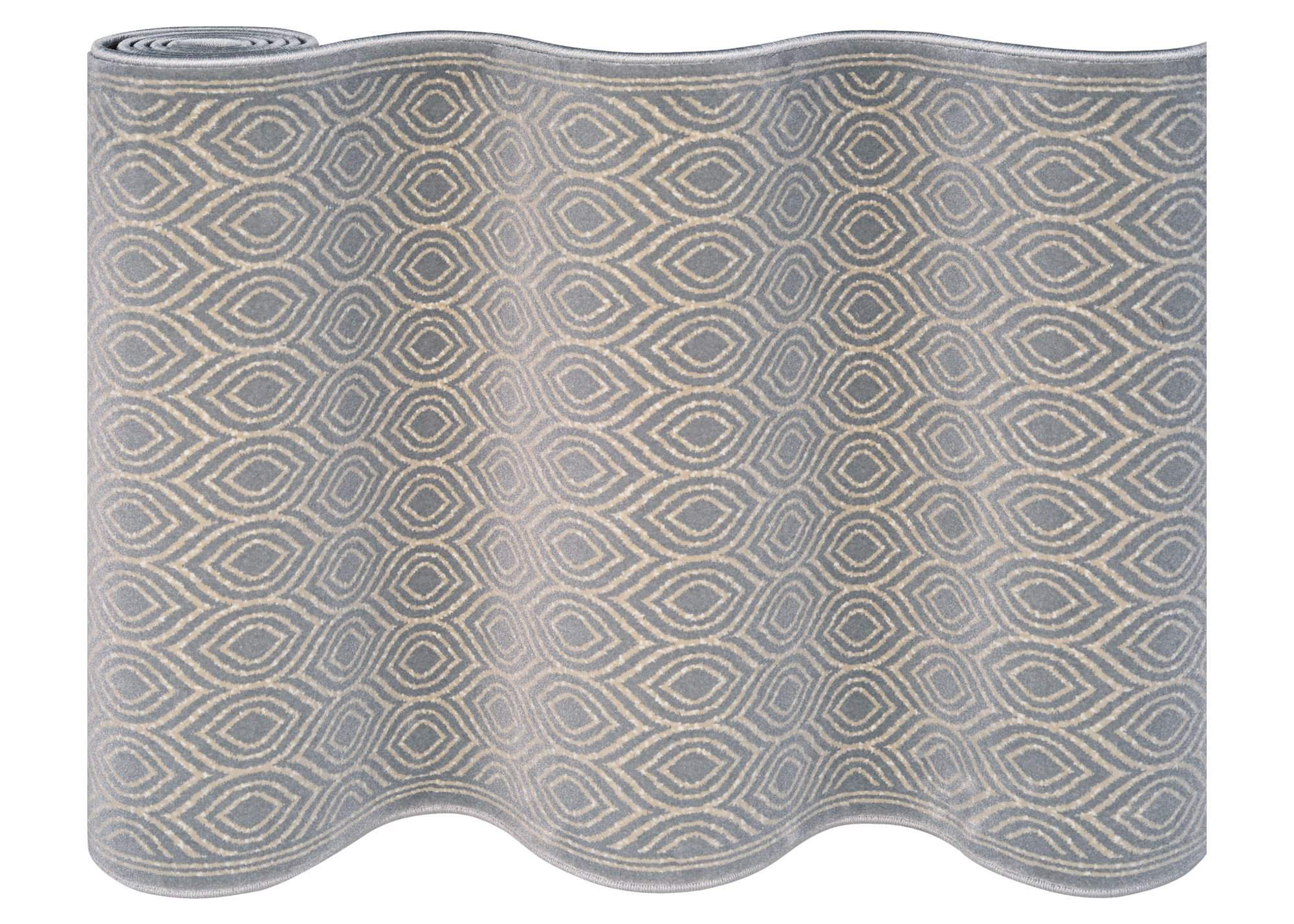 Maeve Platinum Staircase Runner-Staircase Runner-Rug Shop and More