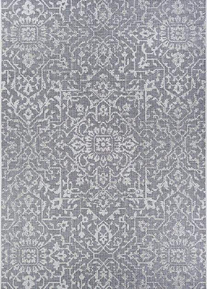 Palmette Grey Outdoor Rug-Rug Shop and More