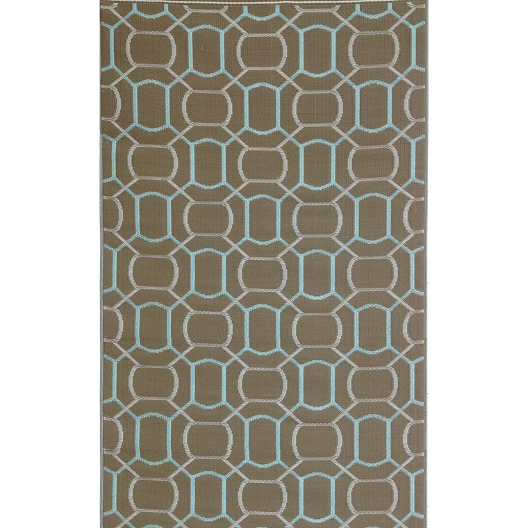 Oblong Brick Eco Friendly Plastic Outdoor Area Rugs