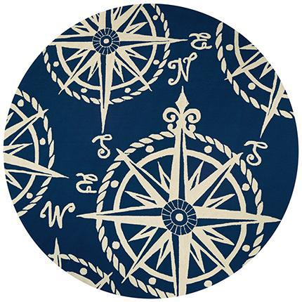 Outdoor Escape Mariner Round Nautical Rug-Rug Shop and More