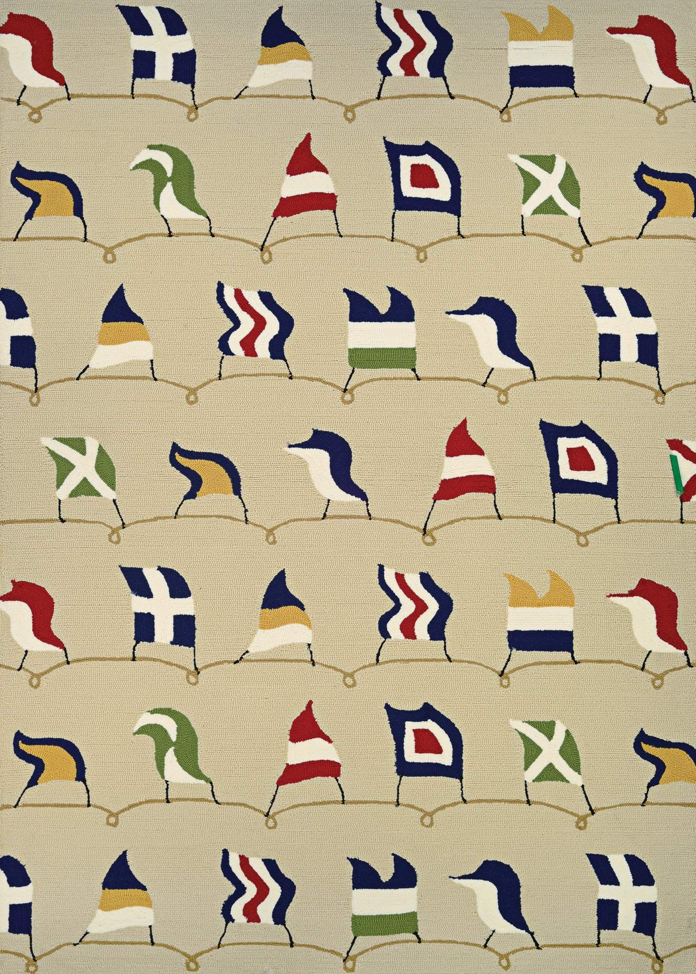 Outdoor Escape Nautical Flags Outdoor Area Rug-Rug Shop and More