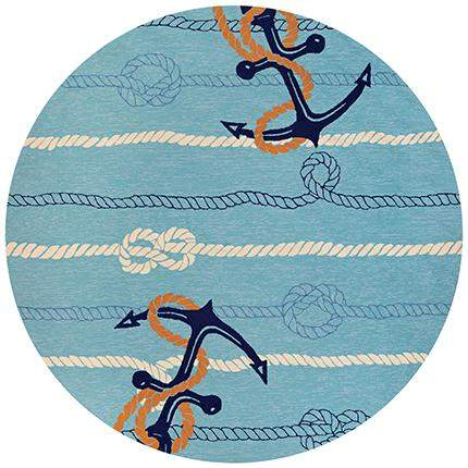 Outdoor Escape Anchorbend Nautical Rug-Rug Shop and More