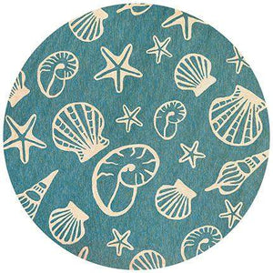 Outdoor Escape Cardita Shells Nautical Area Rugs-Rug Shop and More