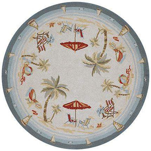 Outdoor Escape Pacific Heights Round Beach Rug-Rug Shop and More