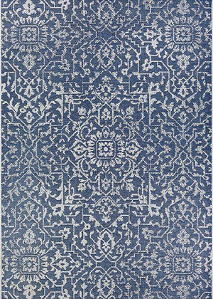 Palmette Navy Outdoor Rug-Rug Shop and More