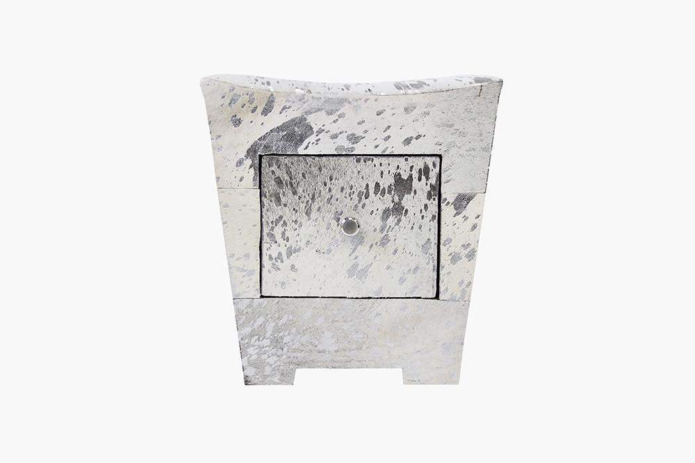 Forest Cowhide End Table