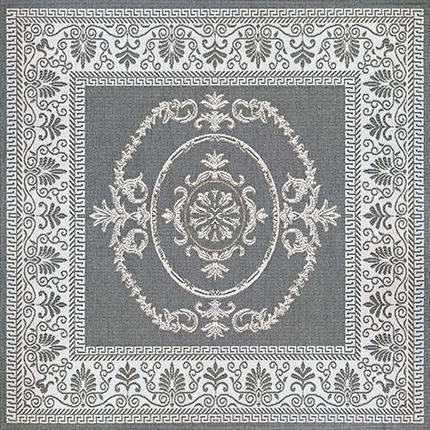Recife Antique Medallion Grey Square Outdoor Rugs-Rug Shop and More