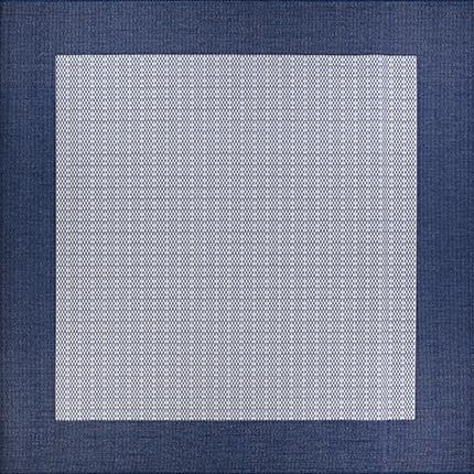 Recife Checkered Field Blue Square Outdoor Rugs-Rug Shop and More