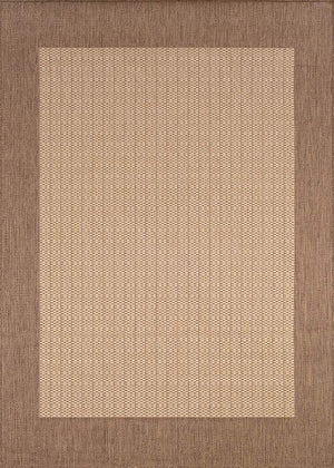 Recife Checkered Field Brown Outdoor Rug-Rug Shop and More