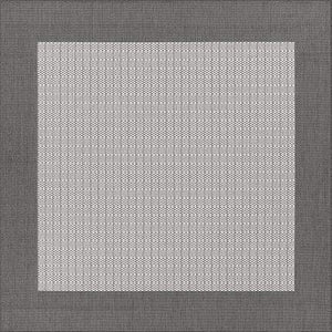Recife Checkered Field Grey Square Outdoor Rugs