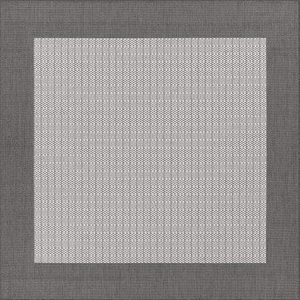 Recife Checkered Field Grey Square Outdoor Rugs-Rug Shop and More