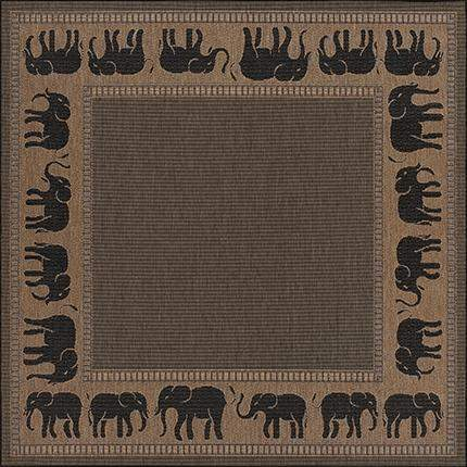 Recife Elephant Square Outdoor Area Rugs