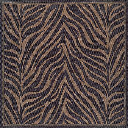 Recife Outdoor Zebra Animal Print Square Rug-Rug Shop and More