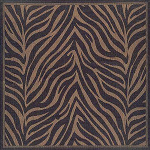 Recife Outdoor Zebra Animal Print Square Rug Area Rugs - Rug Shop and More