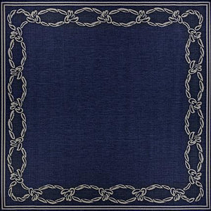 Recife Rope Knot Square Outdoor Rugs-Rug Shop and More
