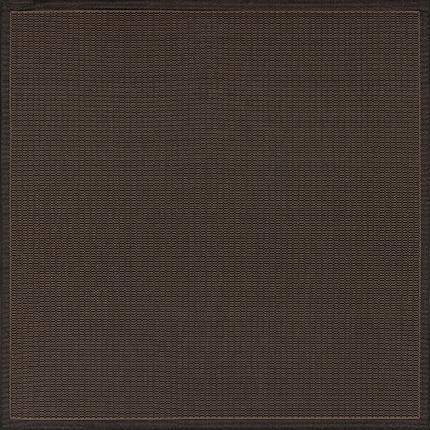 Recife Saddle Stitch Black Outdoor Rugs-Rug Shop and More